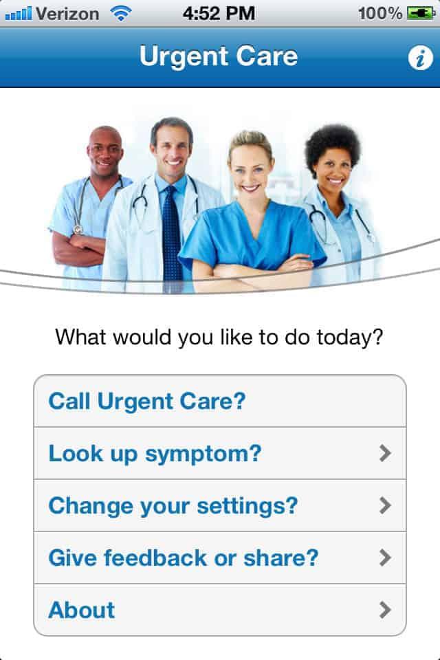 urgent care app