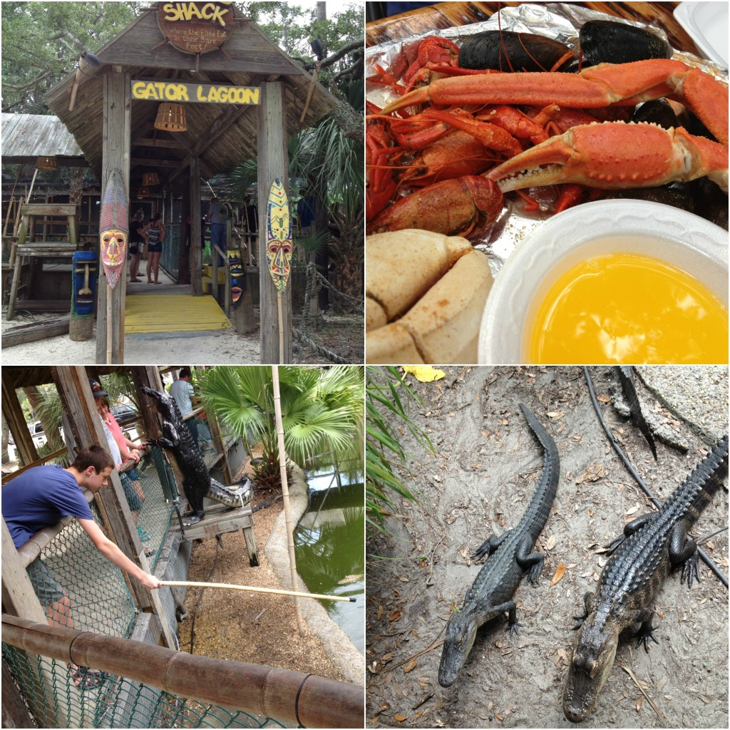 crab shack in savannah collage
