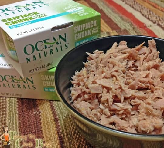 ocean natural tuna in bowl #shop Healthy Tuna Recipes