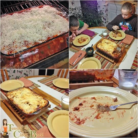 conadina clean plate spaghetti casserole collage