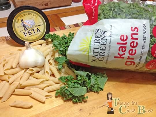 Pasta with Greens and Feta and a Nature's Greens Contest!