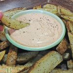 Spicy Yogurt Dipping Sauce with Herb Seasoned Potato Wedges