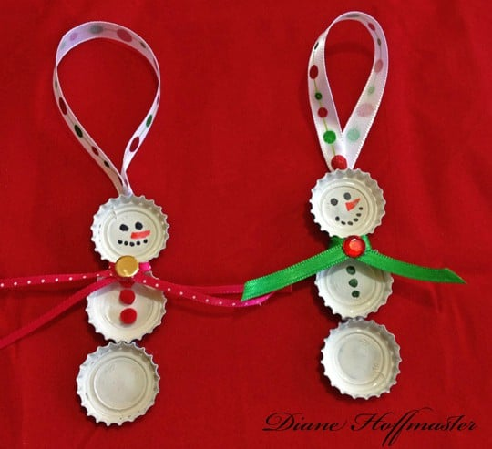 For Kids 2015 | awisbeauty.com Christmas Craft Ideas — Crafthubs Eco Friendly Christmas Craft Bottle Cap Snowmen Turning the Easy Handmade Christmas