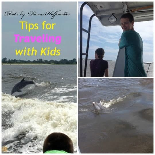 traveling with kids whalewatching with name and banner