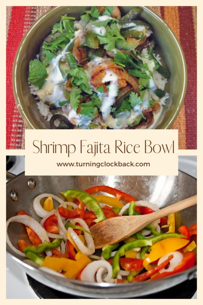 Shrimp Fajita Rice Bowl Recipe