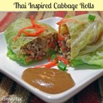 Thai Inspired Cabbage Rolls