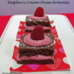 Valentines Day Desserts: Raspberry Creamcheese Brownies