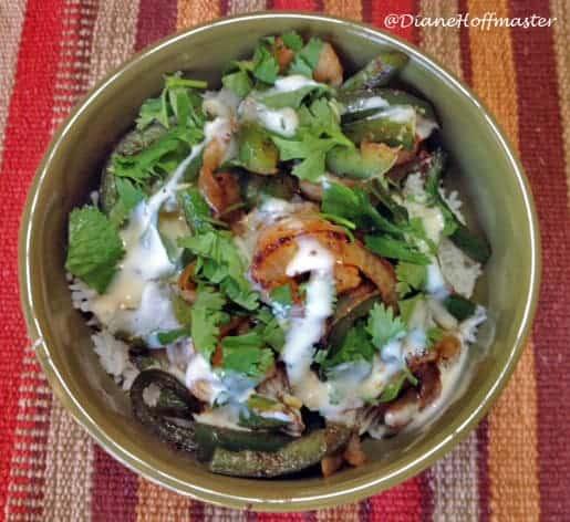 shrimp fajita rice bowl #15minutesuppers