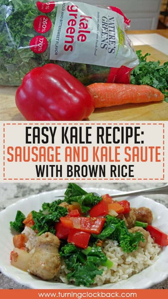 Easy Kale Recipe Sausage and Kale Saute with Brown Rice