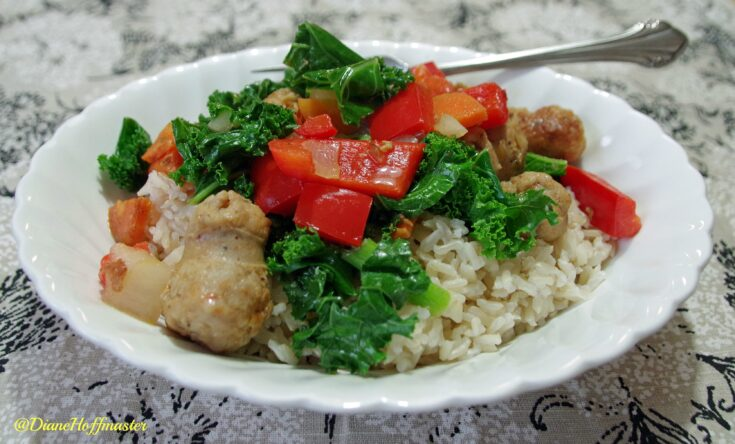Sausage and Kale Saute with Brown Rice