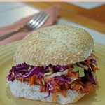 Barbecue Chicken Sandwich with Zesty Coleslaw Recipe