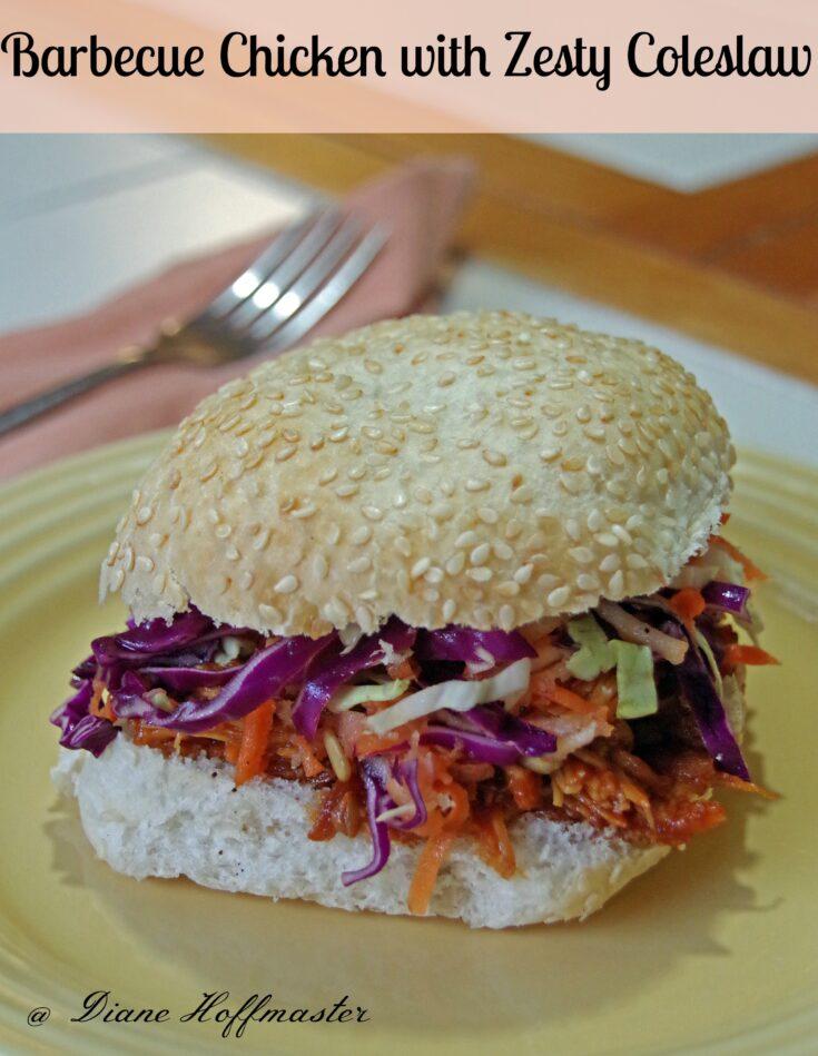 Barbecue Chicken Sandwich with Zesty Coleslaw Recipe