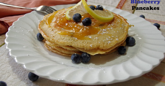Lemon Blueberry Pancake Recipe