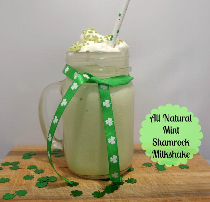 All Natural Mint Shamrock Milkshake