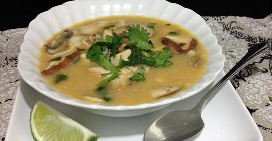 Thai Coconut Soup with Chicken  #15MinuteSuppers