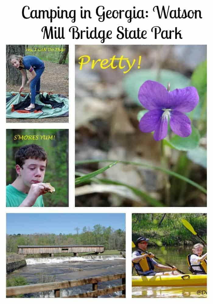 Camping in Georgia at Watson Mill Bridge State Park