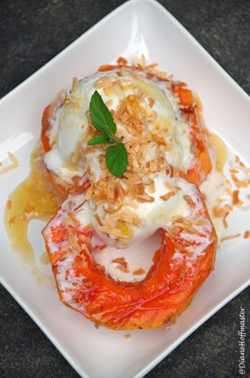 Easy Grilled Papaya Dessert Recipe