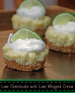 Lime Cheesecake Recipe with Lime Whipped Cream