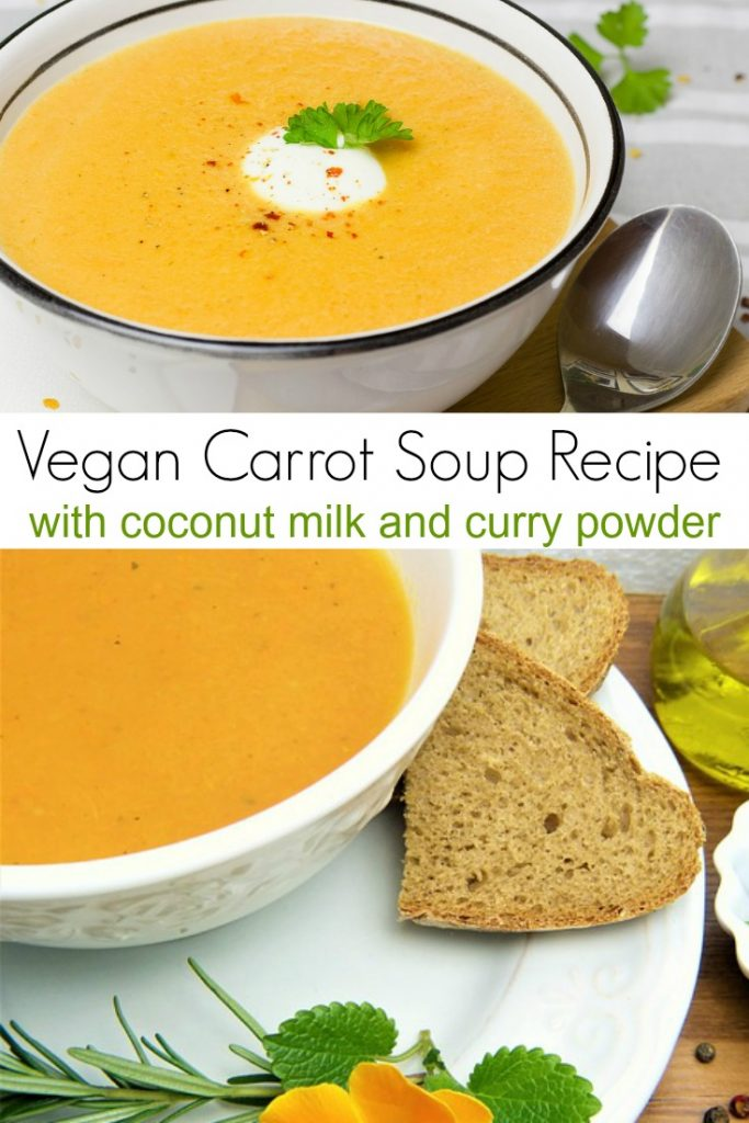 Vegan Carrot Soup Recipe with Coconut Milk and Curry Powder
