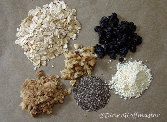 Ingredients for DIY Oatmeal Packets2