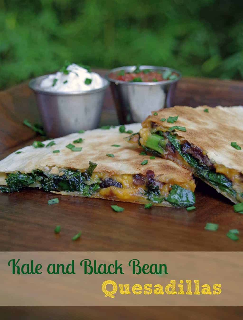 Kid Freindly Kale Recipe: Kale and Black Bean Quesadilla