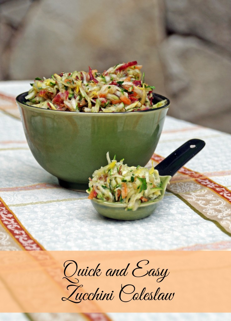 Zucchini Carrot Slaw and a Zucchini Recipe Collection