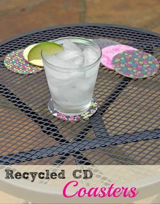 Easy Recycled Craft CD Coasters