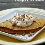 Pumpkin Crepes Recipe with Maple Creme