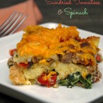 Breakfast Casserole with Sundried Tomatoes and Spinach