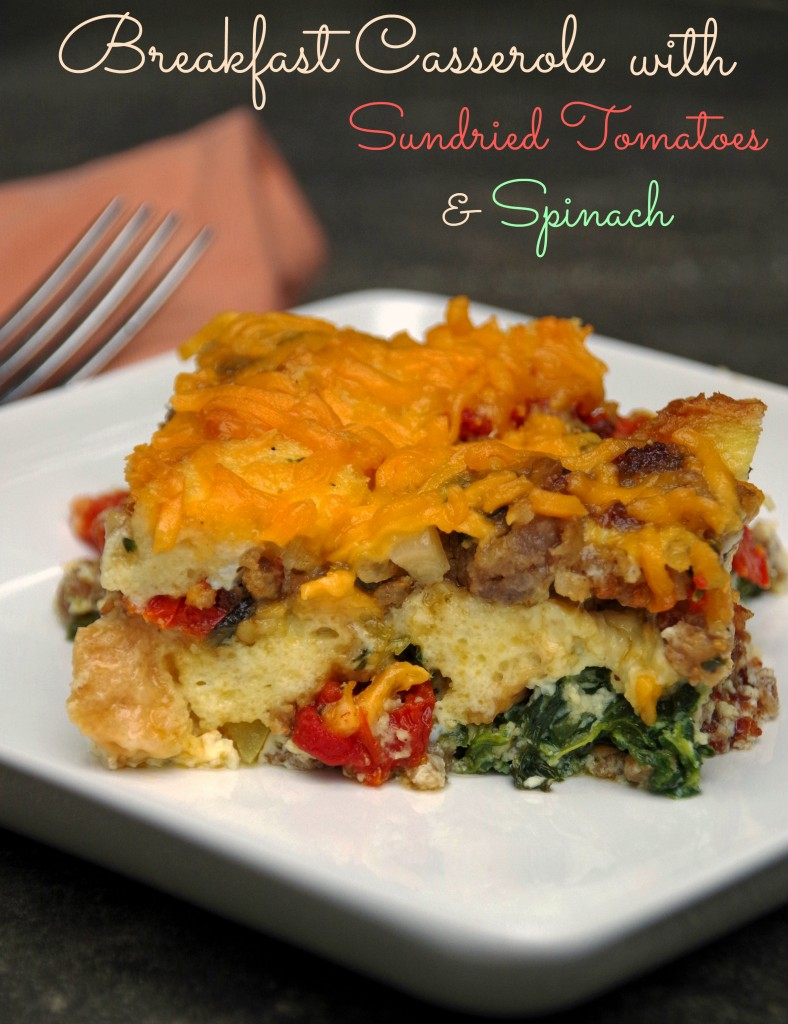 Breakfast Casserole with Sundried Tomatoes and Spinach 2