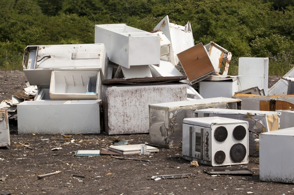 Appliances in a landfill