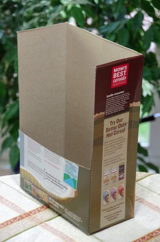 Easy Recycled Cereal Box Craft 2