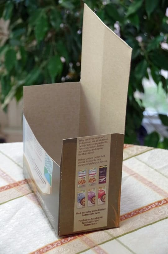 Easy Recycled Cereal Box Craft 3