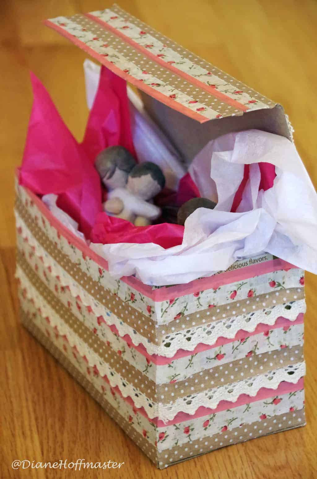 How To Turn A Cereal Box Into A Beautiful Gift Box Turning The