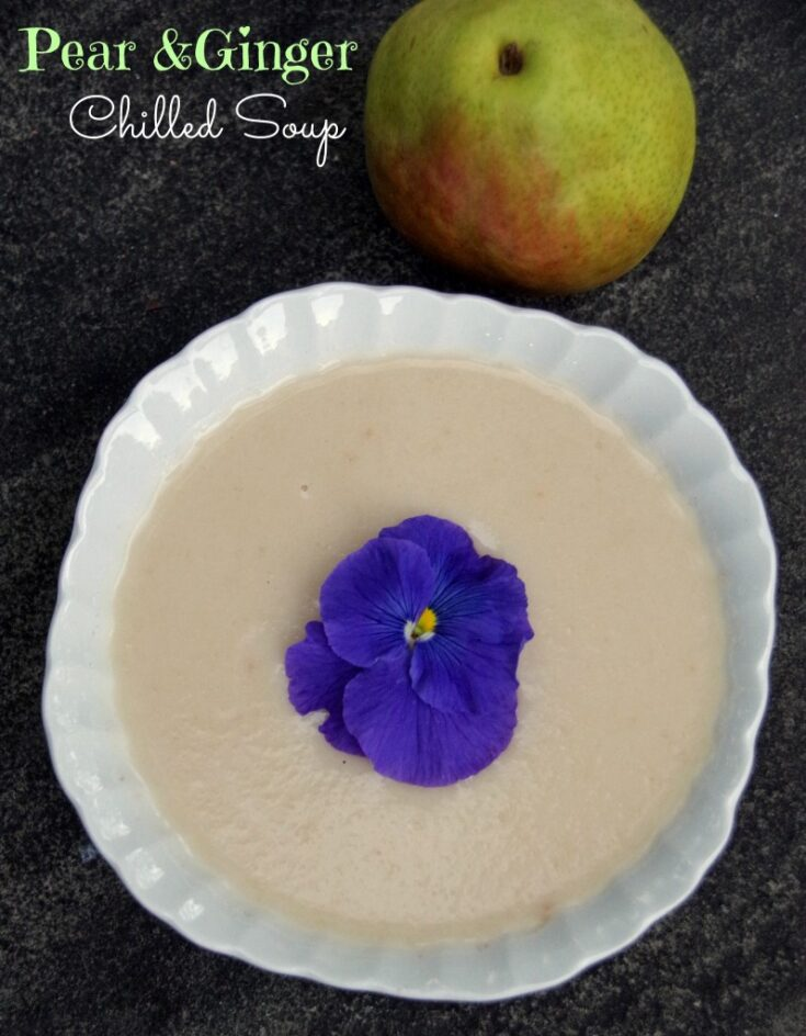 Chilled Pear and Ginger Soup Recipe