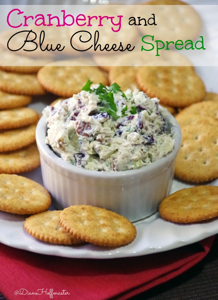 Cranberry and Blue Cheese Spread and Festive  Appetizer Roundup