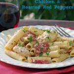 Creamy Pasta Recipe with Chicken and Roasted Red Peppers