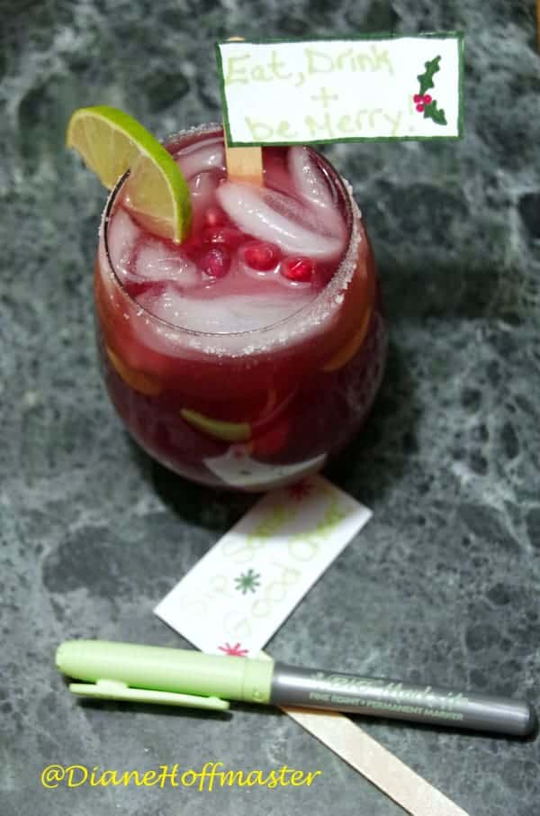Pomegranate Margarita Recipe and DIY drink Stirreres 2