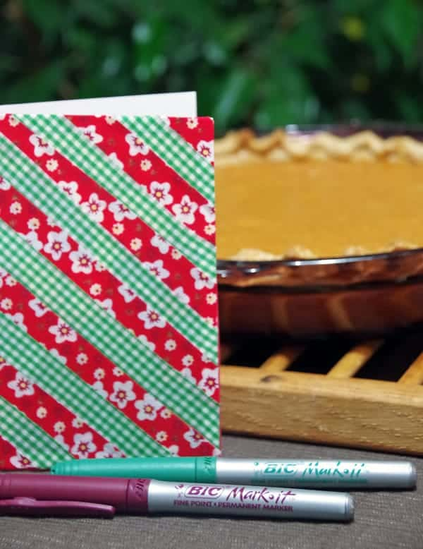Sweet Potato Pie and DIY Washi Tape Notecard