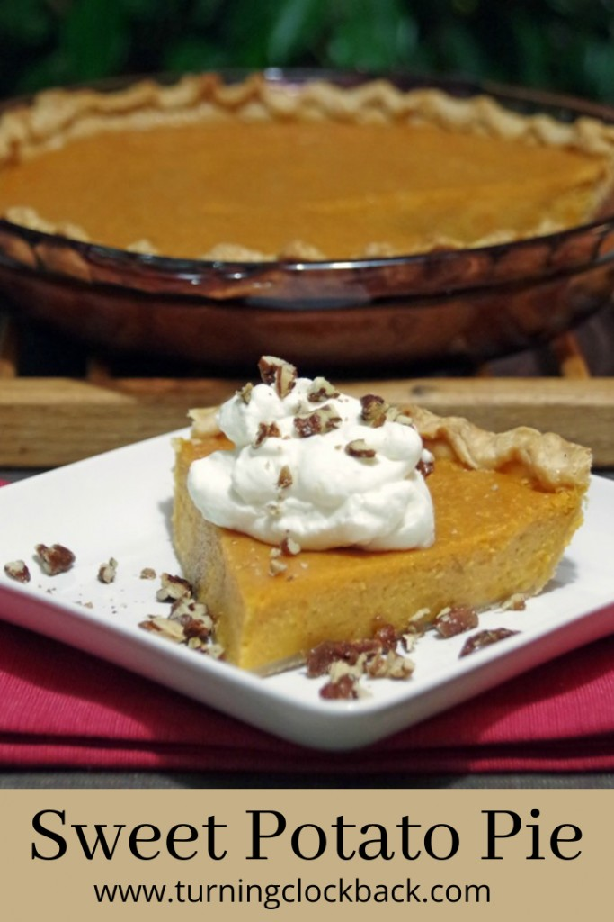 Sweet potato pie is a traditional southern dessert recipe, often served in place of pumpkin pie for Thanksgiving or Christmas.  Loaded with <a href=