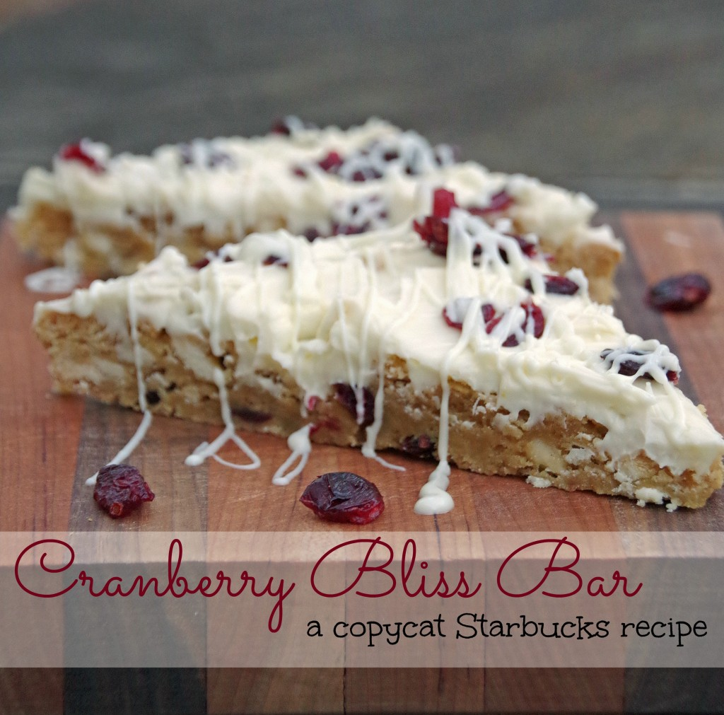 Cranberry Bliss Bar Cookie Recipe 2