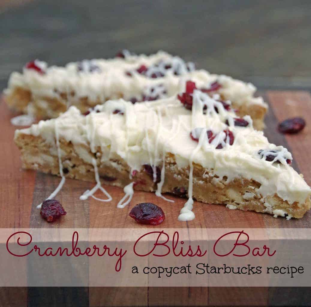 Cranberry Bliss Bar Is a Delicious And Easy Bar Cookie Recipe!