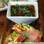 Asian Spring Roll Recipe with Soy Ginger Dipping Sauce