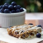 Blueberry Pecan Breakfast Bar Recipe  #LittleChanges