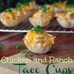 Chicken and Ranch Taco Cups Make an Easy Game Day Appetizer Recipe