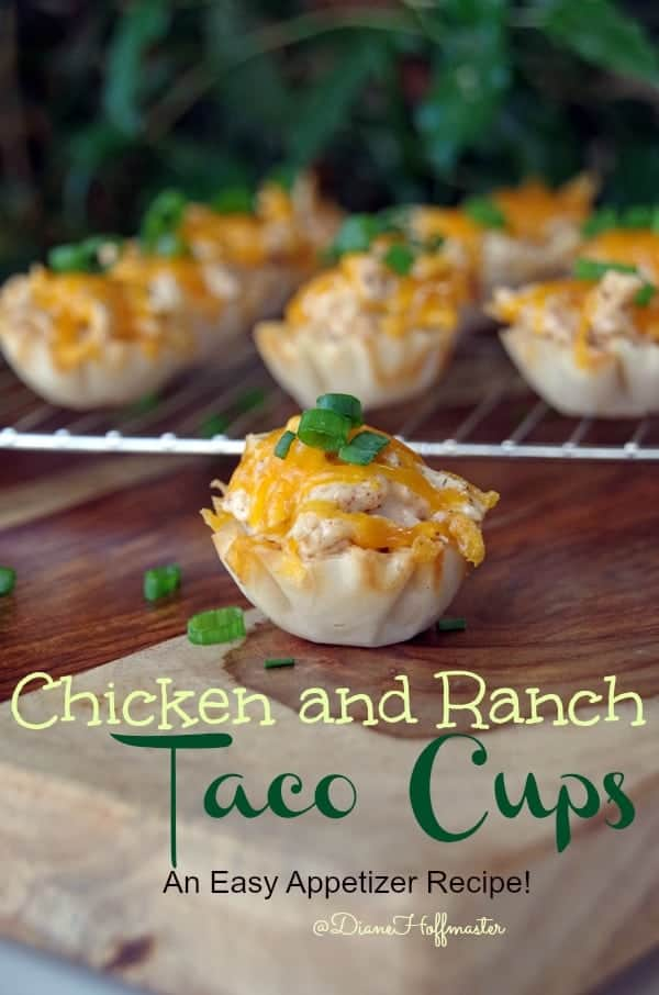 Chicken and Ranch Taco Cups Make  Easy Game Day Appetizers