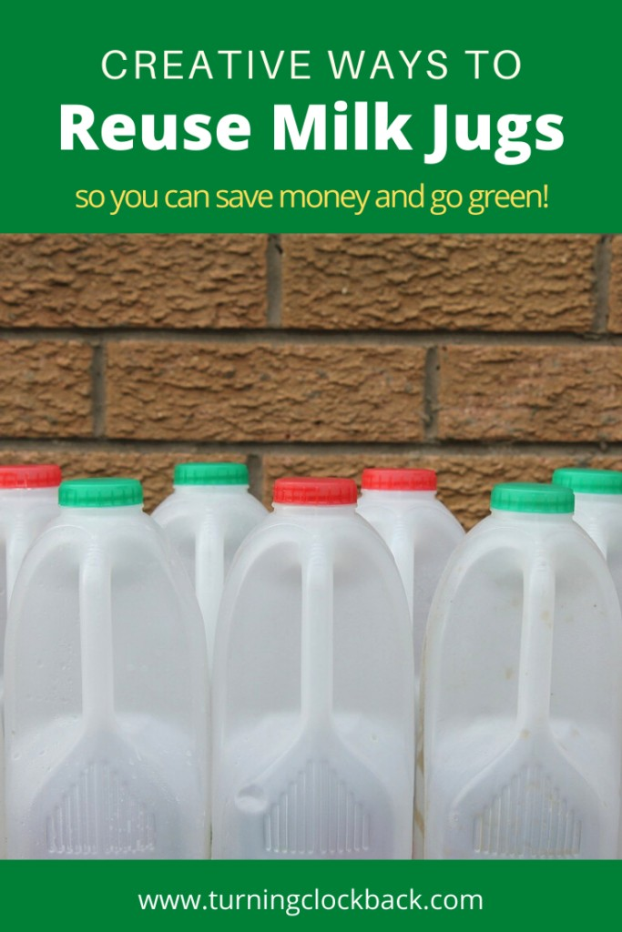 Creative ways to Reuse Milk Jugs so you can save money and go green!