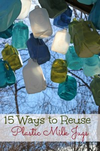 How to reuse plastic milk jugs