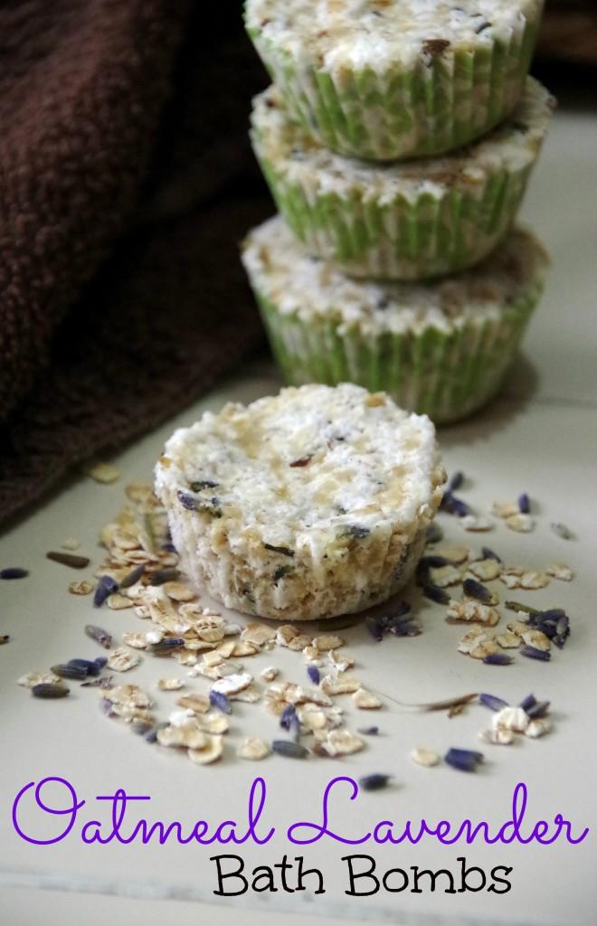 Oatmeal Lavender bath bombs 2