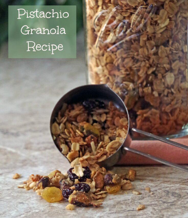 Pistachio Granola Recipe makes a healthy breakfast 2